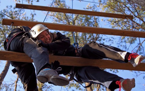 Gallery: Soccer team takes on ropes course