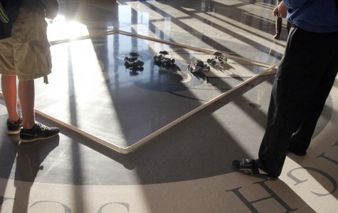 Students play game set up by engineering department. | photo jake deen