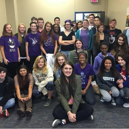 S.A.G.A wears purple in honor of Anti-Bullying month | Photo via Em Williams