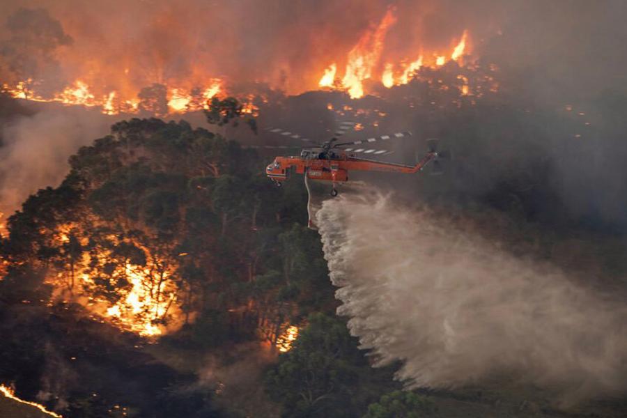 Raging fires persist in Australia