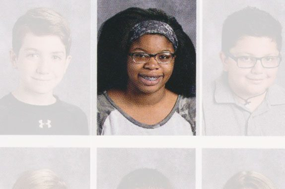 Author Chelsea Nwankwo in the yearbook portrait from her 7th grade year.